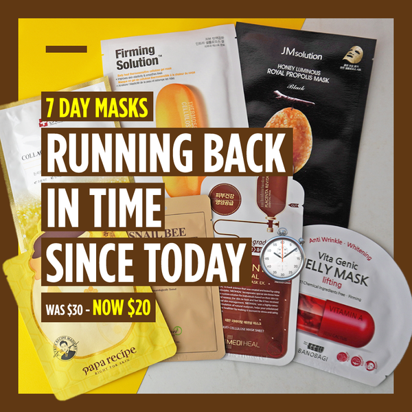 "7-Day Masks - ""Running Back in Time Since Today ⏱"" [7 Masks]"