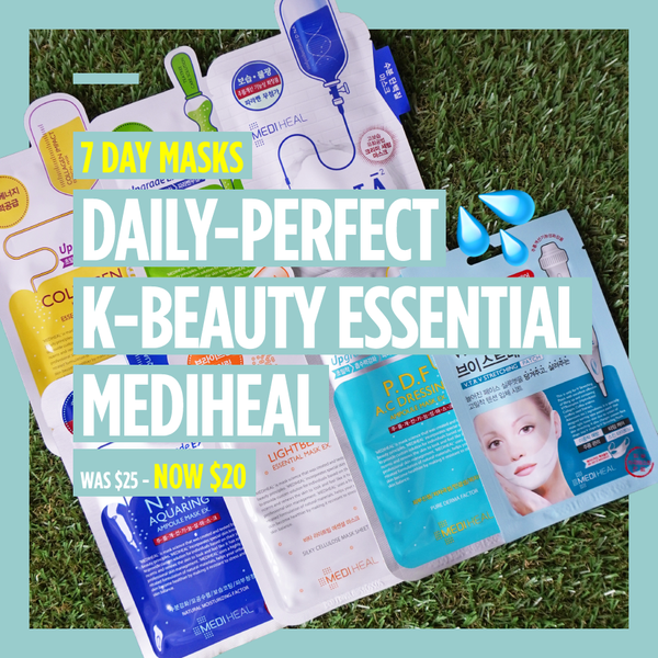 "7-Day Masks - ""Daily-Perfect K-BEAUTY Essential💦 Mediheal"" [7 Masks]"