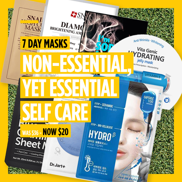 "7-Day Masks - ""Non-Essential, Yet Essential Self Care"" [7 Masks]"