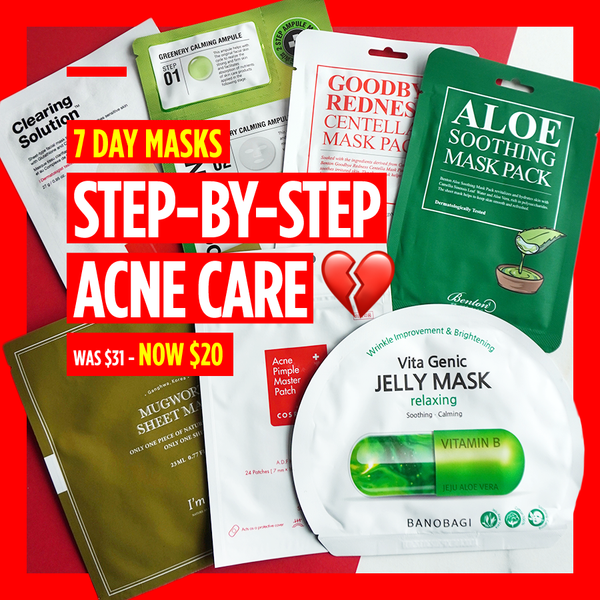 "7-Day Masks - ""Step-by-Step Acne Care 💔"" [7 Masks]"