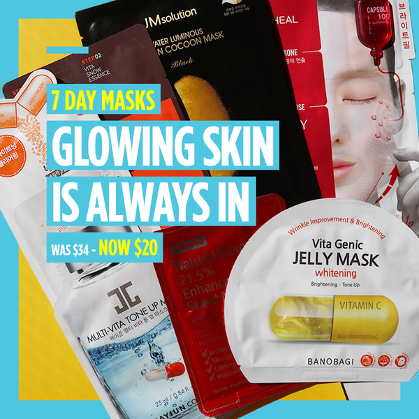 "7-Day Masks - ""Glowing Skin is Always In"""