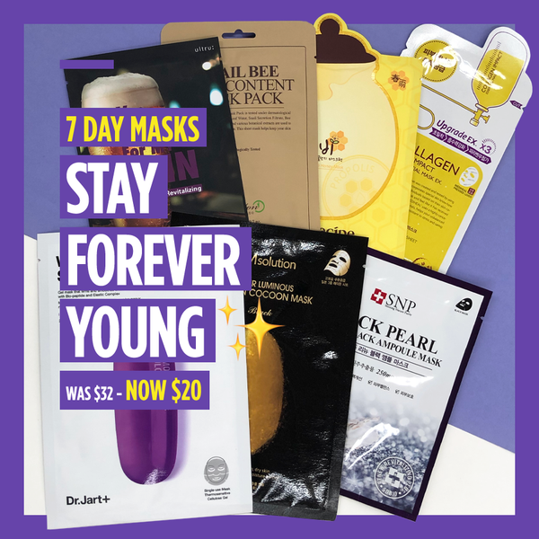 "7-Day Masks - ""Stay Forever Young ✨"""