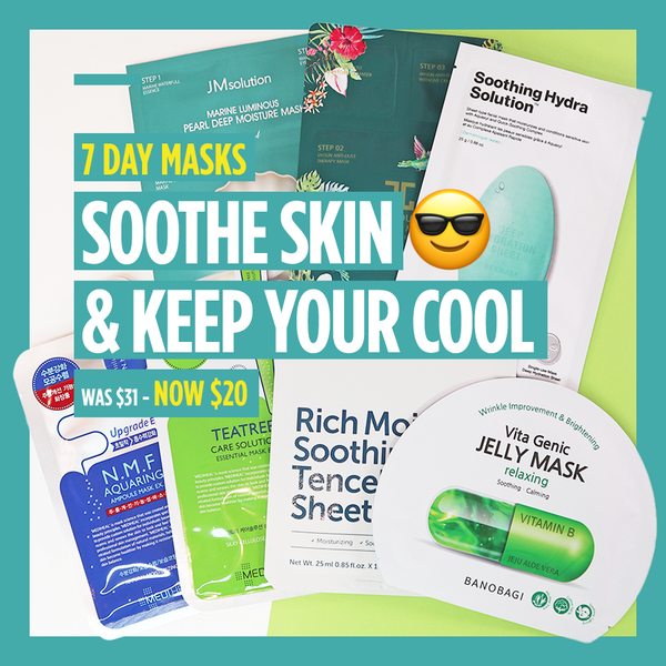 "7-Day Masks - ""Soothe Skin & Keep Your Cool 😎"" [7 Masks]"