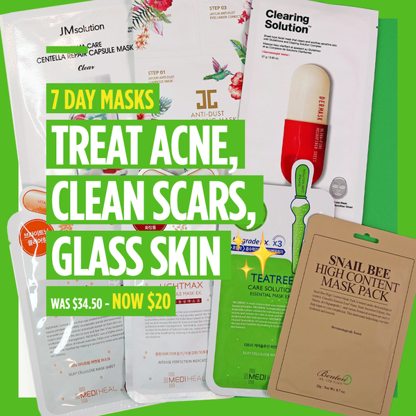 "7-Day Masks - ""Treat Acne, Clean Scars, Glass Skin ✨"" [7 Masks]"
