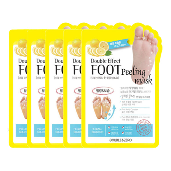 Double Effect Foot Peeling Mask Set [5 Masks]