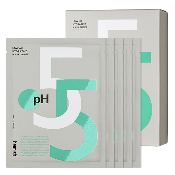 Low pH Hydrating Mask Sheet Set [5 Masks]