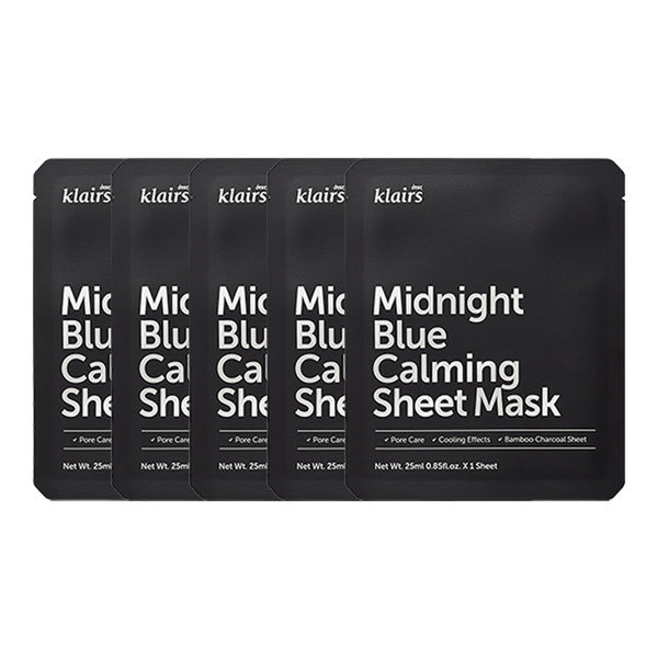 Midnight Blue Calming Sheet Mask Set [5 Masks]