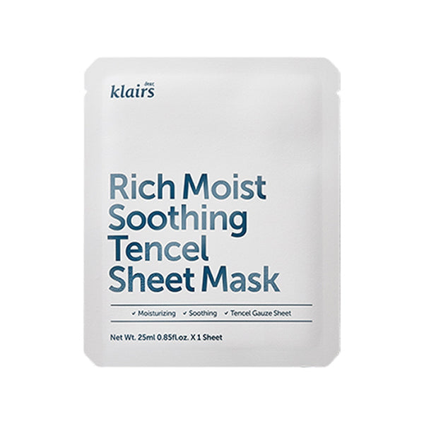 Rich Moist Soothing Tencel Sheet Mask Set [5 Masks]