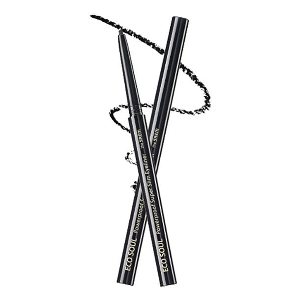 Eco Soul Powerproof Super Slim Eyeliner [#BK01 Night Black]