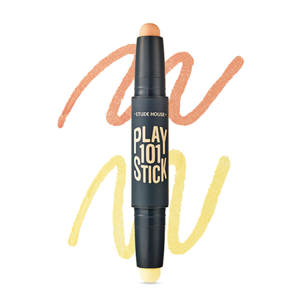 Play 101 Stick Colour Contour Duo [#01 Peach Orange+Yellow]