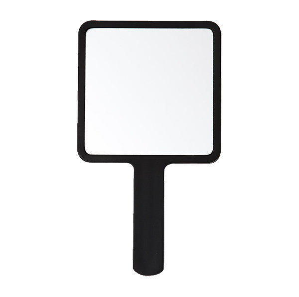 Hi Black Square Hand Mirror