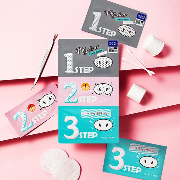 Pig-Clear Black Head 3-Step Kit Set [5 Kits]