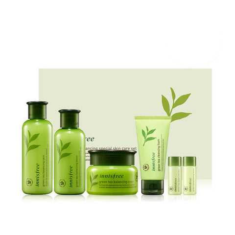 Green Tea Balancing Skin / Emulsion / Cream / Foam Special Set