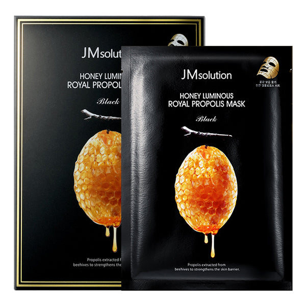 Honey Luminous Royal Propolis Mask Black Set [10 Masks]