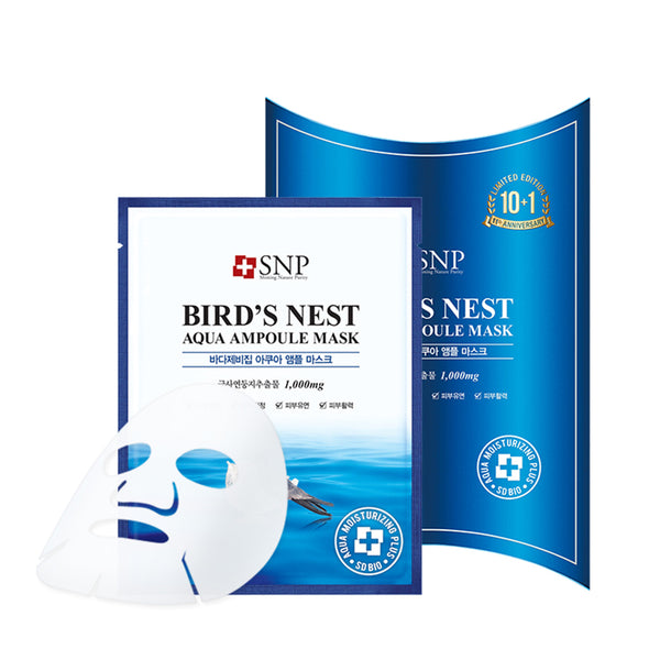 Bird's Nest Aqua Ampoule Mask Set [10 Masks]