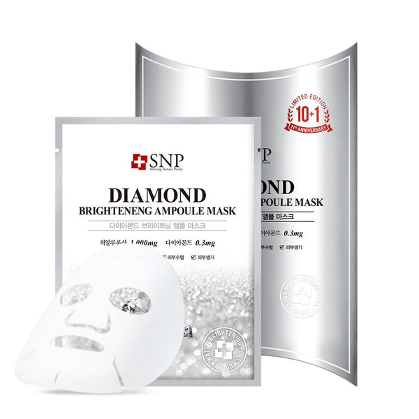 Diamond Brightening Ampoule Mask Set [10 Masks]