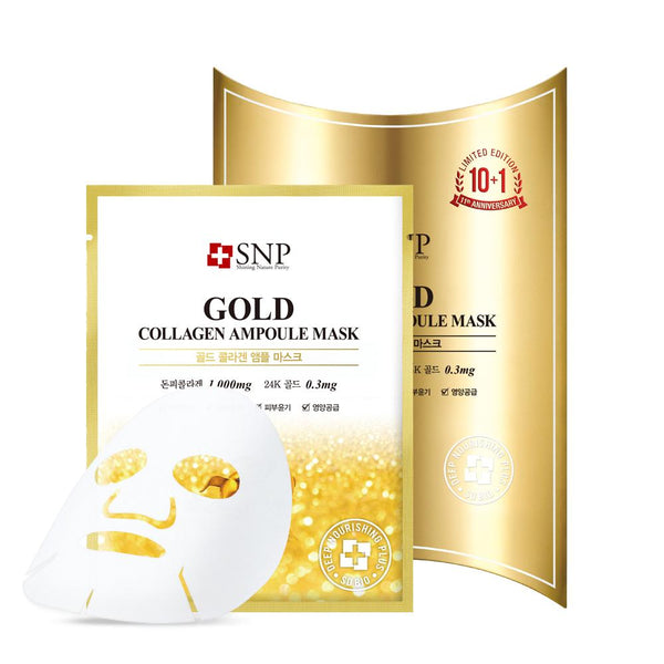 Gold Collagen Ampoule Mask Set [10 Masks]