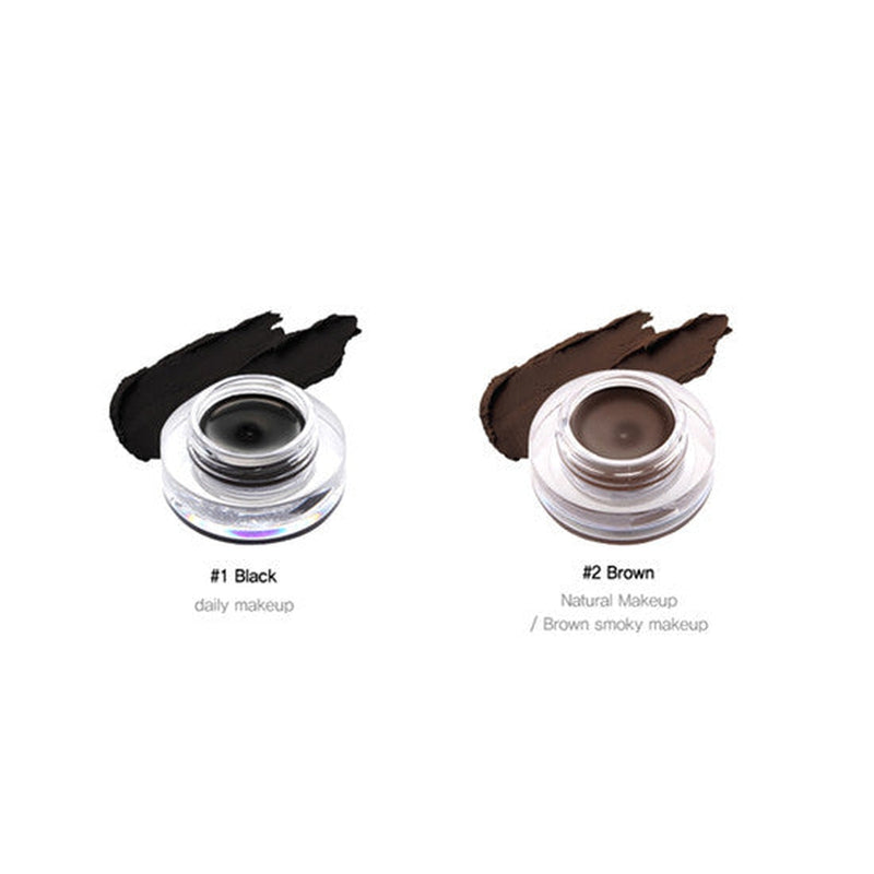 TONYMOLY Backstage Gel Eyeliner Long Brush [#2 Brown] - Hikoco - Korean Beauty, Skincare, Makeup, Products in New Zealand - 3