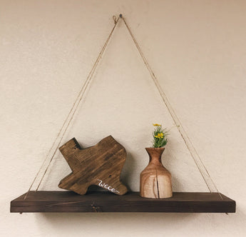 Hanging Wood Shelf