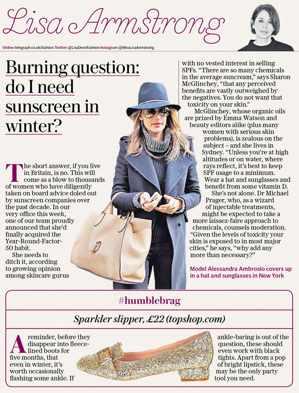 The Telegraph: Burning Question - Do I need sunscreen in winter?