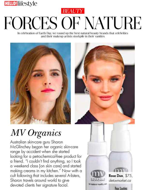 MV Organic Skincare seen in Hello Canada