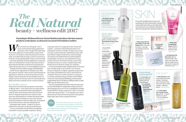 Psychologies Magazine | The Real Natural Beauty & Wellness Edit 2017