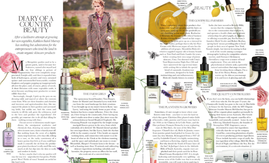 MV Organic Skincare featured in Town & Country