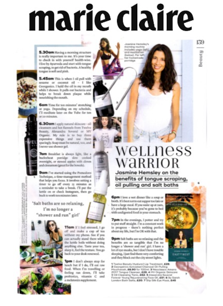 Jasmine Hemsley favourite organic skincare in Marie Claire