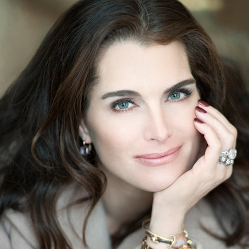 Brooke Shields adores all the the products in the MV Organic Skincare line