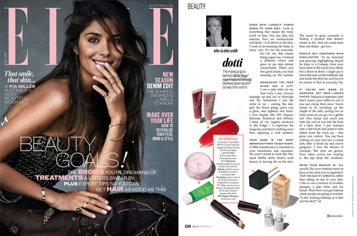 MV Organic Skincare featured in Elle Australia