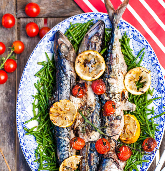 Hemsley and Hemsley Mackerel, Samphire & Caramelised Lemon