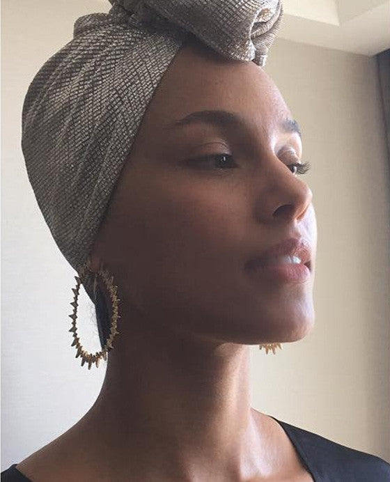 Alicia Keys' no-makeup look with MV Organic Skincare