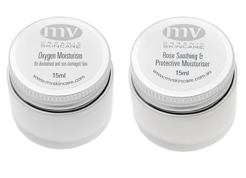 Two of my favourite moisturisers from the MV range