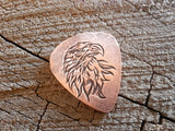 copper eagle head guitar pick - playable