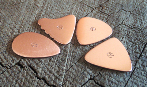 4 copper picks in different shapes - playable