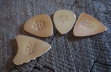 4 bronze guitar picks - non slip - playable
