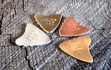 playable shark tooth non slip guitar picks - QTY 4
