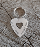 aluminum guitar pick keyring for your man - playable