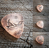 copper artisan guitar picks - southwestern theme