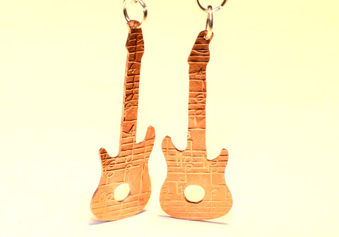 Guitar Earrings Rocking out the Dangle with a Musical Design