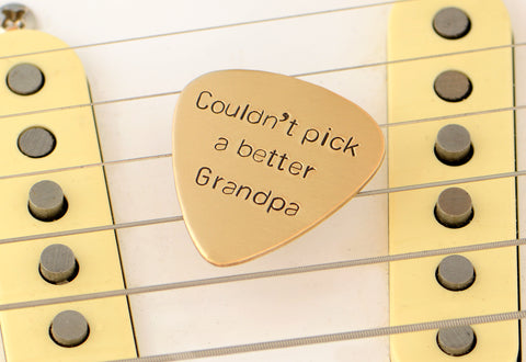 Couldn't Pick a better Grandpa Bronze Guitar Pick