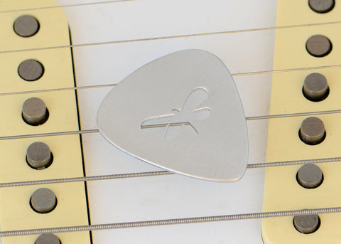 Dragonfly Custom Guitar Pick in Aluminum
