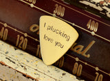 I Plucking love You Triangular Bass Guitar Pick