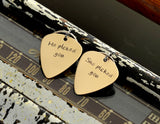 Couples Guitar Pick Personalized Keychain Set – He picked you – She picked you