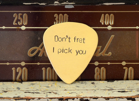 Don't Fret, I Pick You Bronze Guitar Pick
