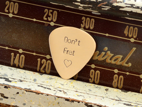 Don't Fret Bronze Guitar Pick