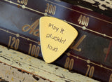 Play it Plucking Loud Bronze Bass Guitar Pick