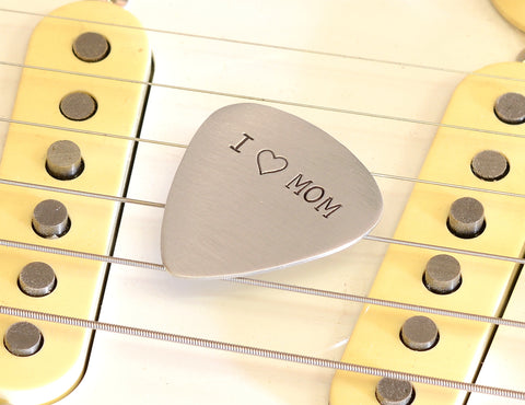 I love mom Guitar Pick for Special Moms and Mother's Day