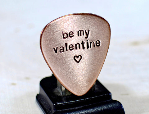 Be my Valentine Copper Guitar Pick