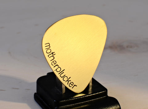 Brass Mother Plucker Handmade Guitar Pick